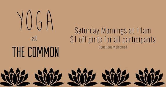 yoga at the Common Beer Company